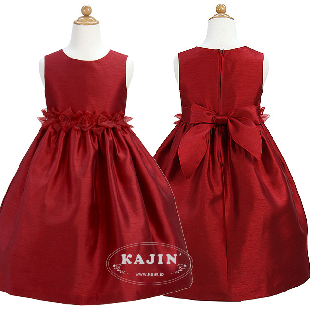 クラシックオーガンジーローズドレス「レッド」