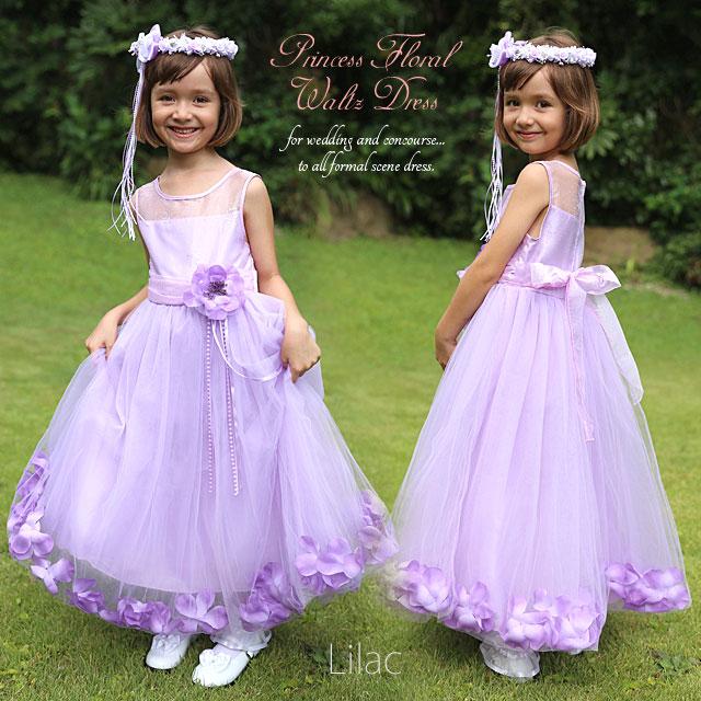 プリンセスフローラルワルツドレス