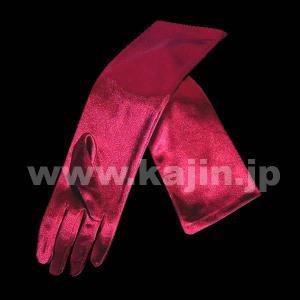 子供用フォーマルサテンロング手袋「バーガンディ」 ゆうパケット発送OK(5点まで)