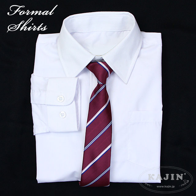 ネクタイ付きフォーマルシャツ「ホワイト」