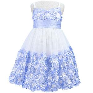 ノースリーブジュニアキャミドレス「ベビーブルー」