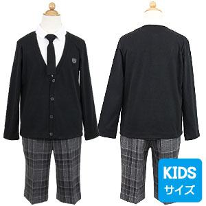 カットソーとチェックパンツスーツ