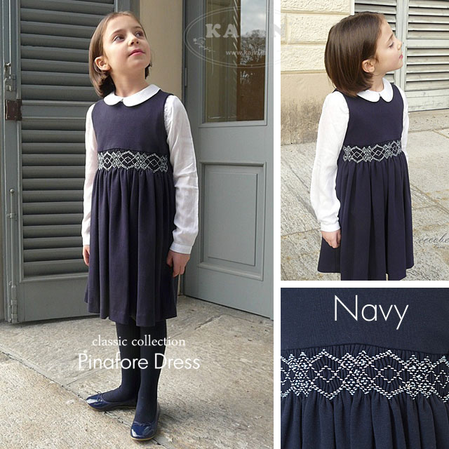 イタリア製 スモッキング刺繍子供ジャンパースカート eccobebe CHASUBLE チャズブル