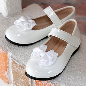 エナメルストラップフォーマル靴「白」