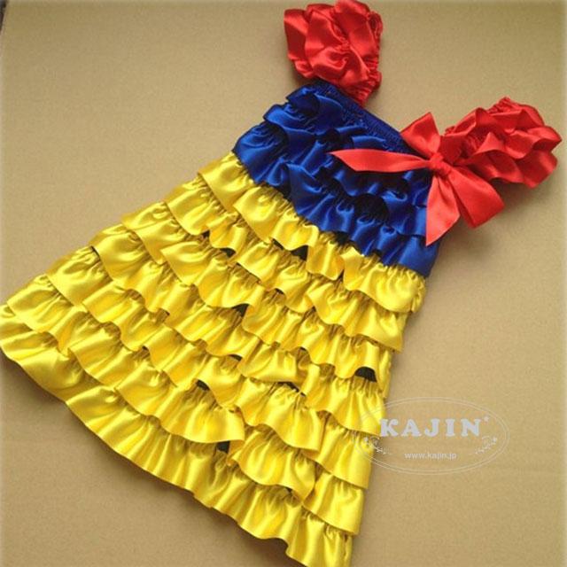 白雪姫風 サテン フリル ドレス アウトレット特価