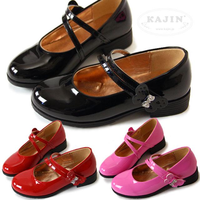 e727448d9cdd9 SALE 女の子 フォーマル 靴 シューズ エナメル パンプス ストラップ ブラック ピンク レッド サイドリボン ダブルストラップ メリー