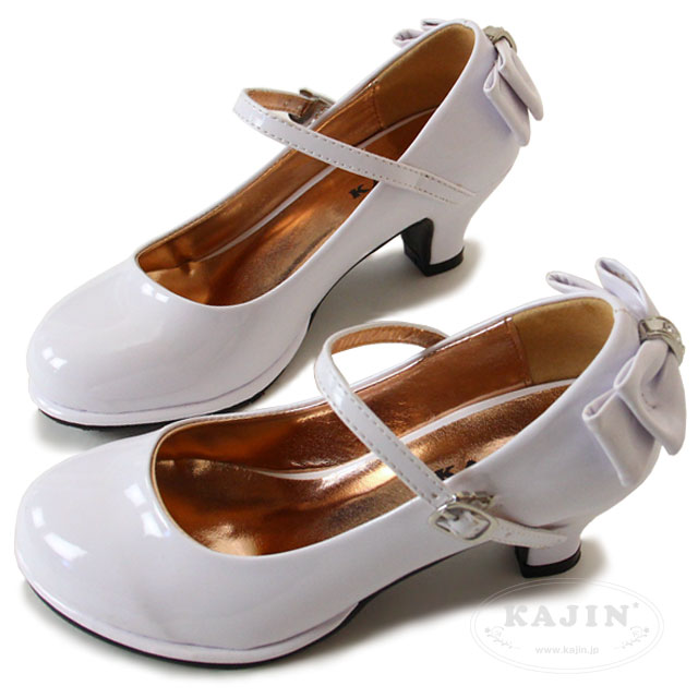 SALE 女の子 フォーマル 靴 シューズ エナメル パンプス ストラップ ブラック ホワイト パール バックリボン ワンストラップ エナメルパンプス 19.5 20 20.5 21 21.5 22 22.5 23cm 結婚式 発表会