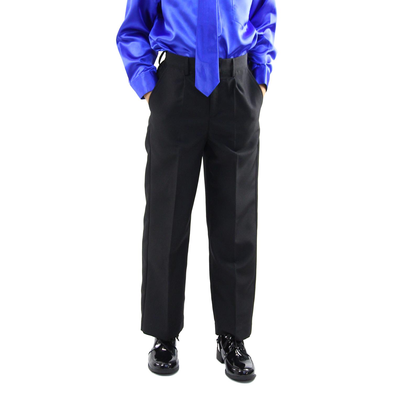 男児フォーマルスラックス「黒」 キッズ ジュニア ロングパンツ(アウトレット) ゆうパケット発送OK(1点のみ)