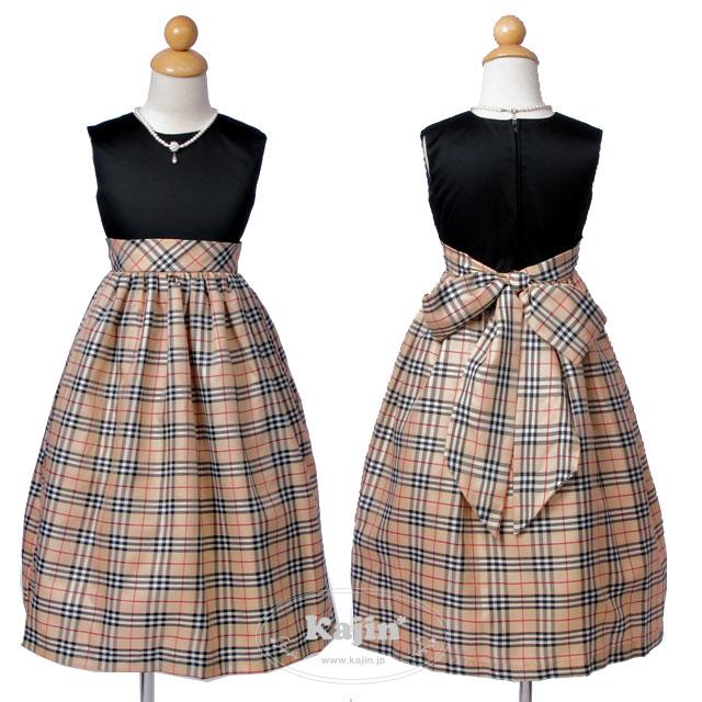 タータンチェックが上品な英国風お嬢様ドレス