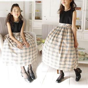 タータンチェック英国風お嬢様ドレス