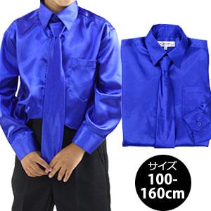 ネクタイ付きサテンドレスシャツ