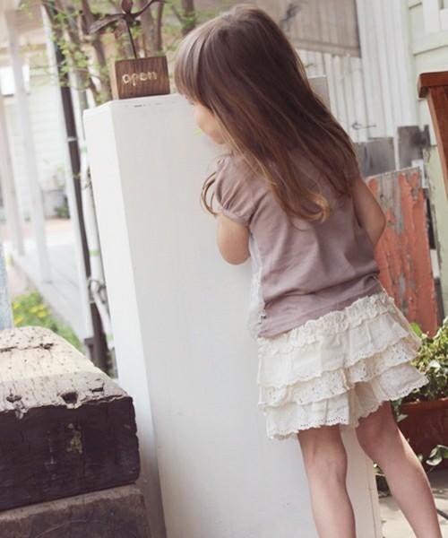 韓国服 ショコラシリーズ SSプリン カンカンキュロットスカート キュロット キッズ 服 大人子供服  レース シンプル 夏 ボトムス
