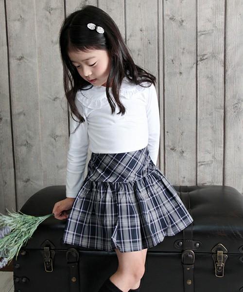 ショコラシリーズ 韓国服 ケイト ブラウス 白ブラウス 子供 女の子 フォーマル トップス キッズ 入学式 入園式 卒園 丸襟 無地 レース 大きな襟 ブラウスtシャツ 通学 100 110 120cm