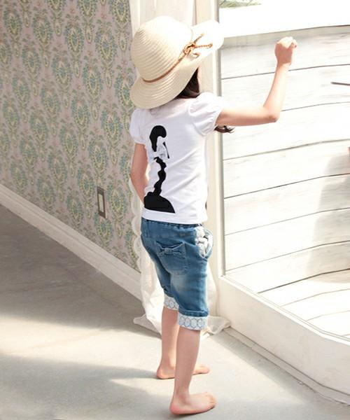 子供服 女の子 半そでTシャツ 白 韓国服 ショコラシリーズ SS パフスリーブ 子ネコTシャツ 子供 Tシャツ 半袖 キッズ 白 女の子 半袖Tシャツ 可愛いTシャツ キッズ 子供服 トップス プリントTシャツ ネコ柄 90 100 110 120 130 140cm