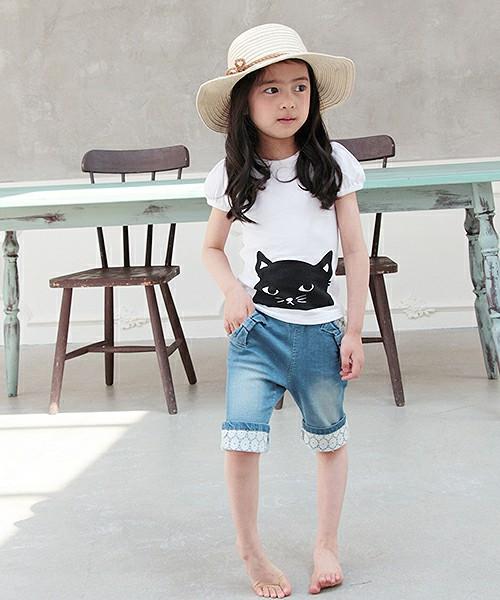 子供服 女の子 半そでTシャツ 白 韓国服 ショコラシリーズ SS 子供半袖Tシャツ 可愛いTシャツ キッズ 子供服 トップス プリントTシャツ