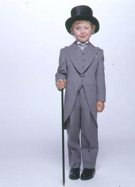 【レンタル商品】子供用モーニングコート5点セット「グレー」