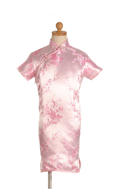 ピンク色子供チャイナドレス ゆうパケット発送OK(1点のみ)